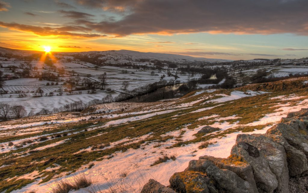 Sunset over Middleton-in-Teesdale