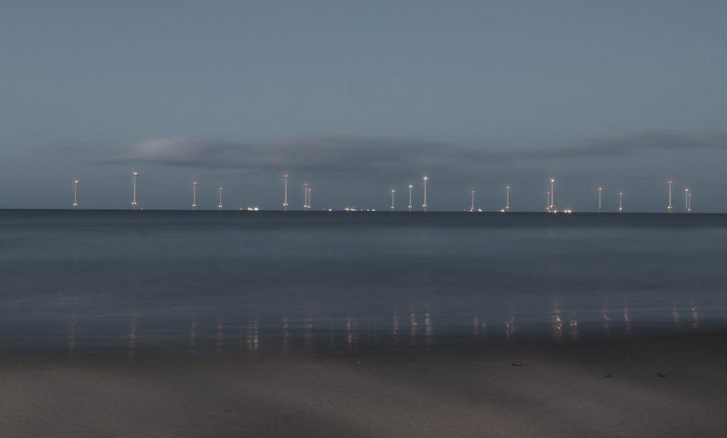 Blue Hour Redcar Wind farm