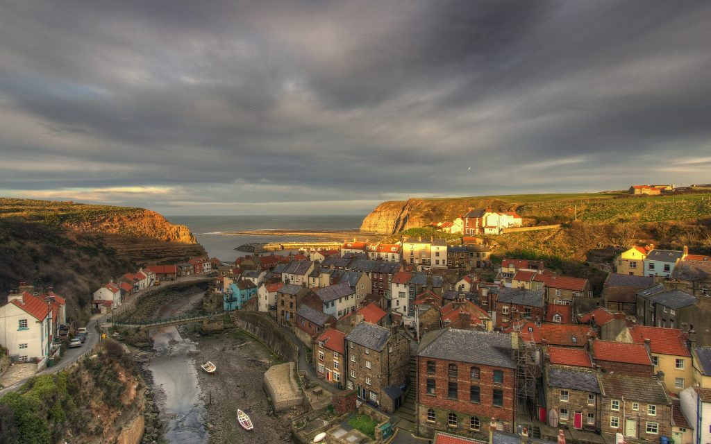Staithes before sunset
