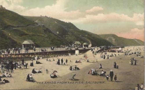 Saltburn Pier- View of the beach