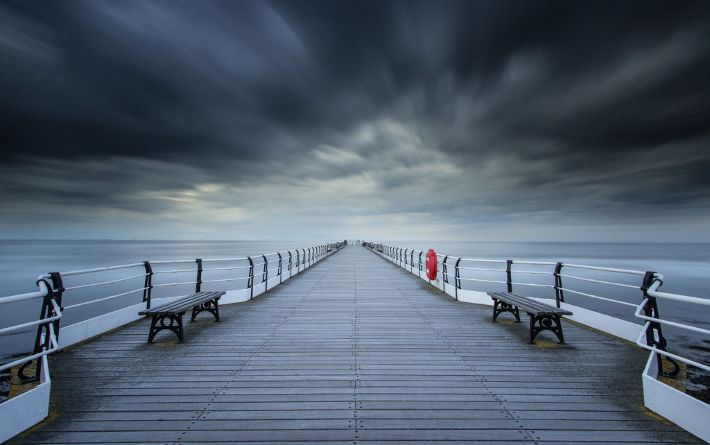 Saltburn beach, Saltburn Pier, Saltburn, Long Exposure