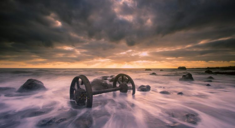 The Chaldron Wheels, Chemical Beach, Seaham.