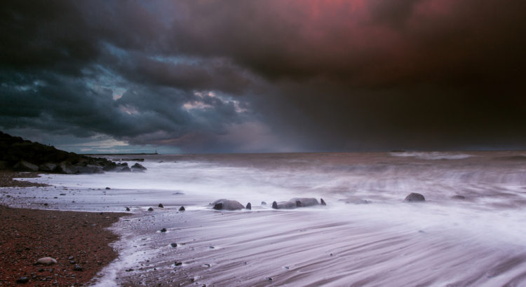 Stormy Sunset on Chemical Beach, Seaham