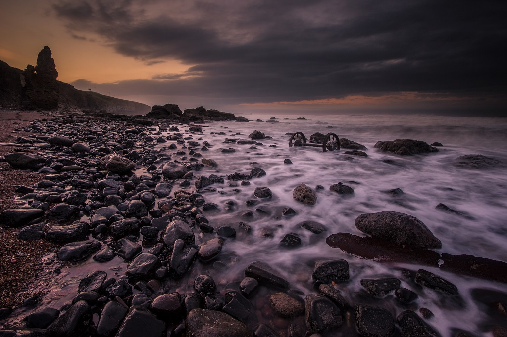 Seaham, Chemical Beach, Last Light, Blue Hour