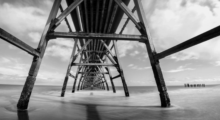 Steetley Pier Panorama Taken by combining five different exposures all taken with a LEE Big Stopper filter.