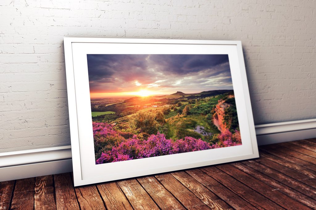 A summer sunset from Cockshaw Hill looking towards Roseberry Topping. Mounted prints £29.00, Framed prints from £39.00