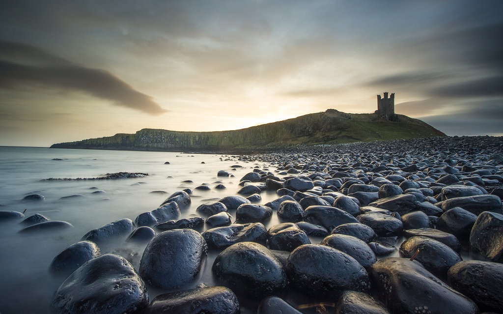 Dunstanburgh Castle Sunrise Long Exposure