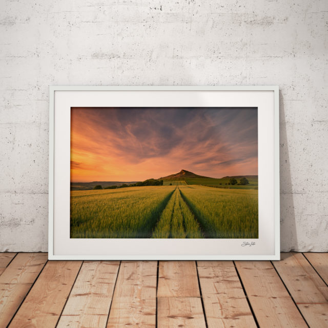 Roseberry-Topping-Sunset-White