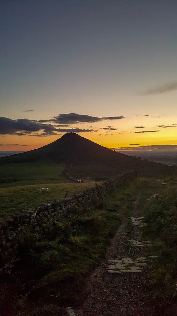 Roseberry Topping in the afterglow captured on Samsung S6