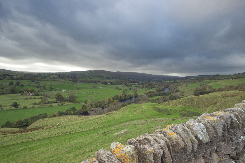 The view towards Middleton-in-Teesdale from the B6282
