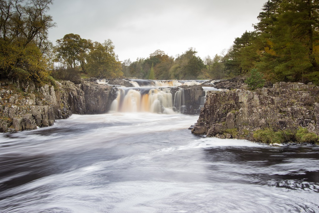 Autumn at Low Force Waterfall, Teesdale