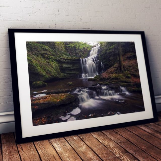 Scaleber Force Waterfall Yorkshire Dales - Print for sale