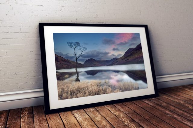 Buttermere Sunset Black Frame