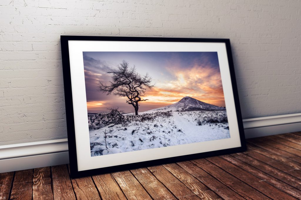 Roseberry Topping Winter Sunset
