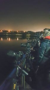 Photographers line up along the river to capture the firework display at Stockton-on-Tees, 5th November 2017.