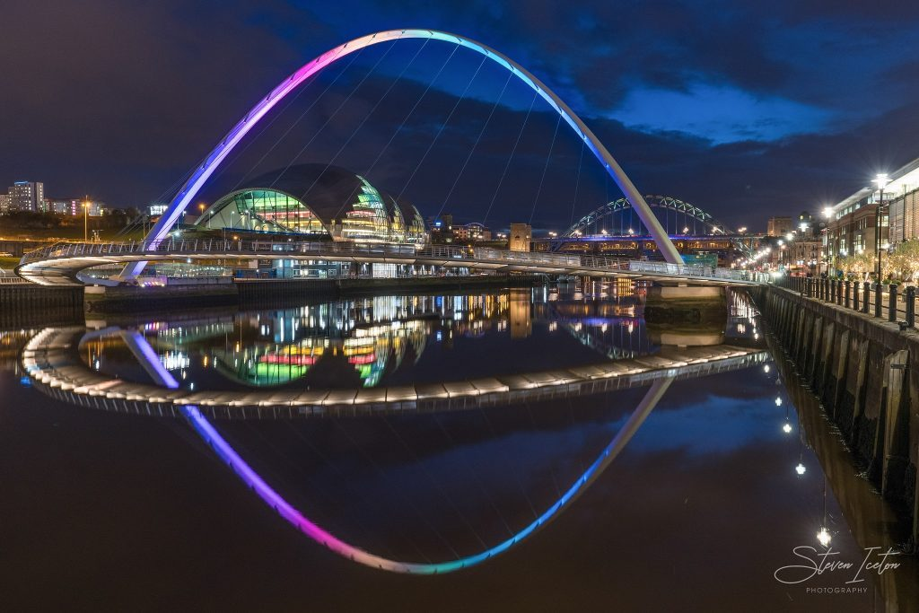 Newcastle Quayside. Available both mounted from £24.99 or framed from £39.00 in a choice of black or white mouldings.