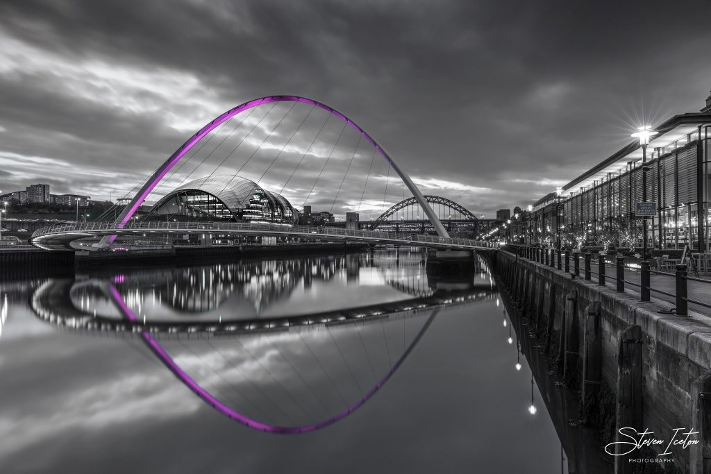 Newcastle Quayside Selective Colour