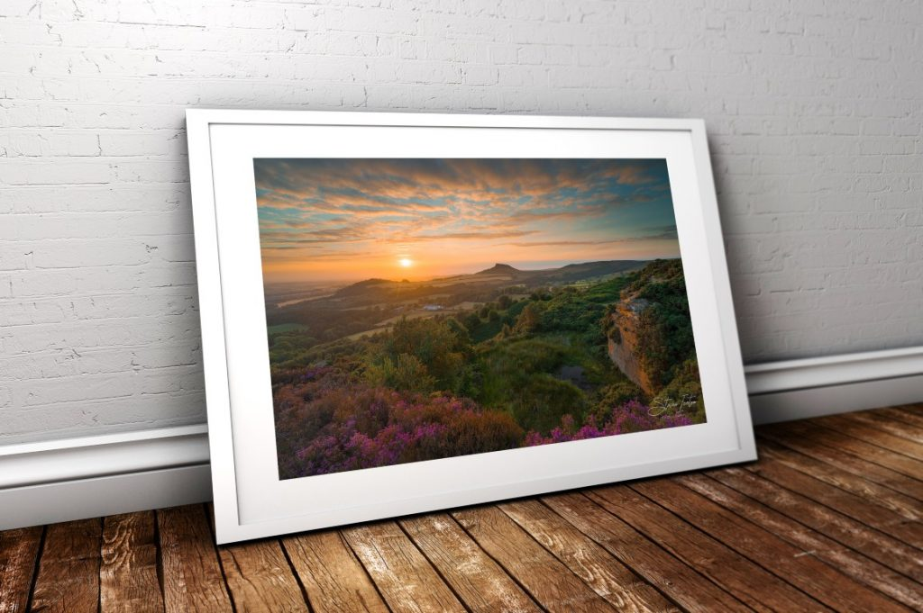 Summer at Cockshaw Hill, North York Moors. Mounted prints £24.99, Framed prints from £39.00.