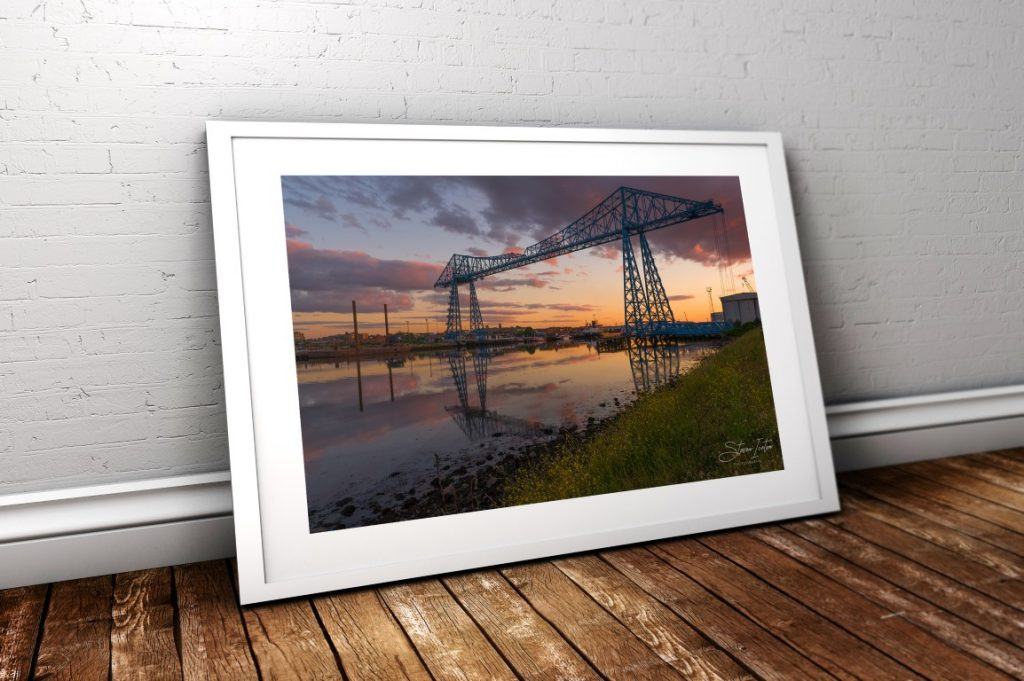 The historic Transporter Bridge at Middlesbrough. Available now in my online store!
