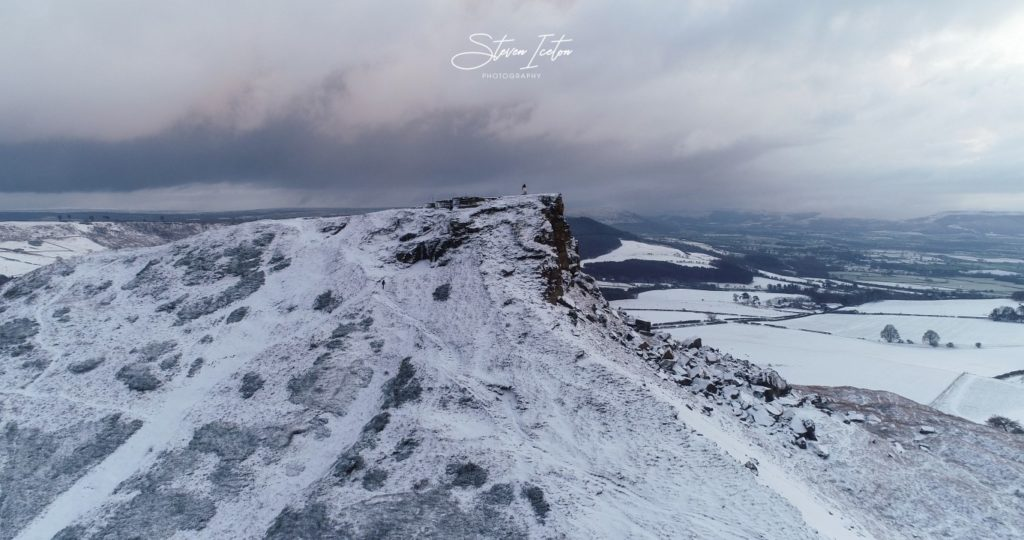 Roseberry-Topping-Winter-Snow-Drone-4