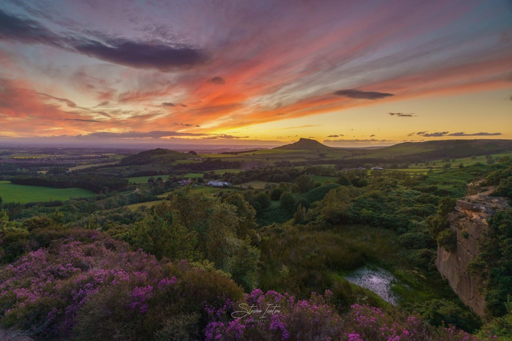 North York Moors Heather Bloom 2020 Cockshaw Hill Afterglow